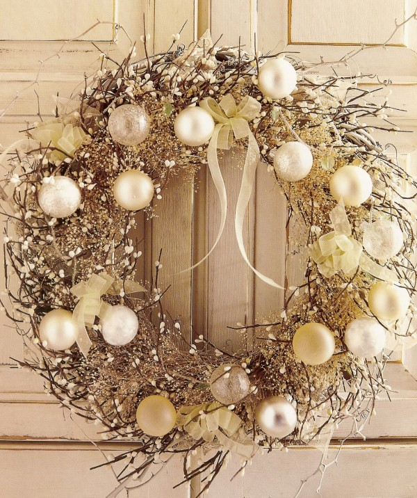 Decoration holiday wreath inspiration ideas - Decorazioni natalizie stile shabby chic ...