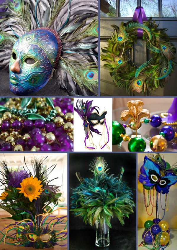 Peacock Inspired Mardi Gras Inspiration Bug Blog